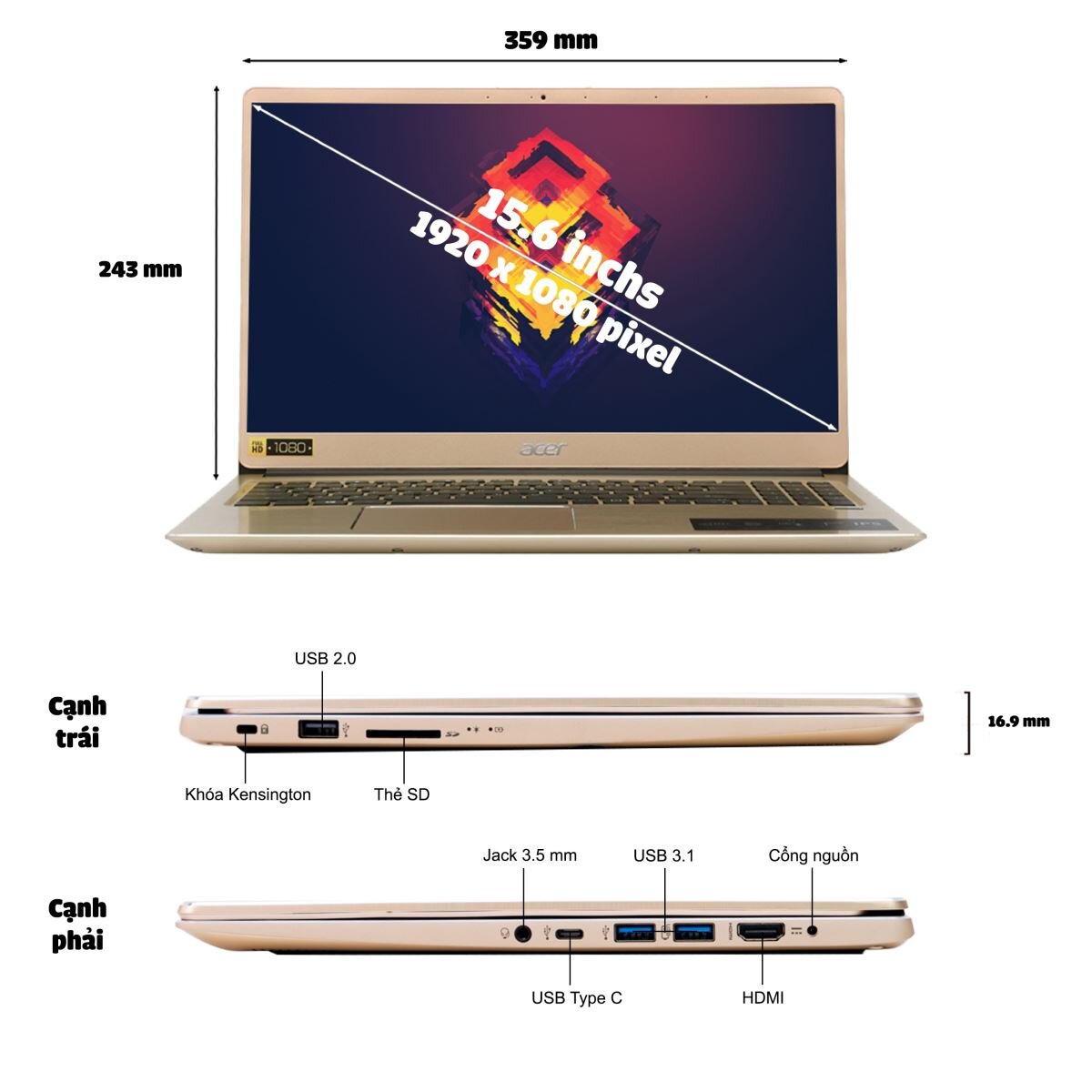 Laptop Acer Swift 3 SF315-52-50T9