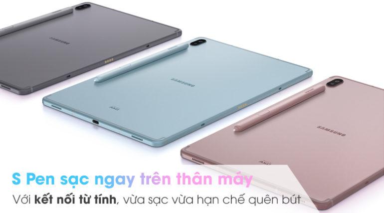 Samsung Galaxy Tab S6 có 3 màu xanh, xám và hồng đa dạng lựa chọn cho người dùng