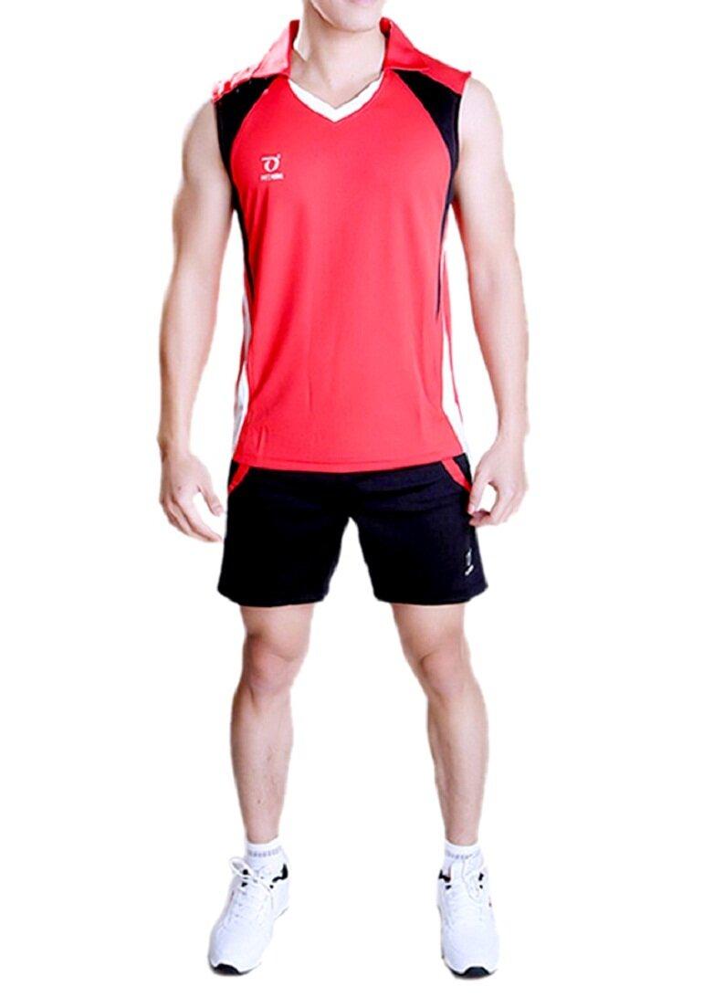 Quần áo bóng chuyền nam sát nách DonexPro-MCB-6121-06