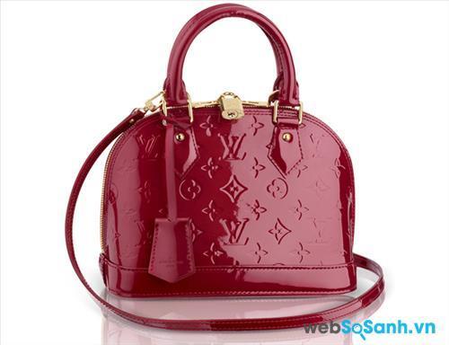 Louis Vuitton Alma Bag in Monogram Vernis