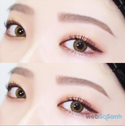 Trang điểm mắt bằng sắc ánh và chuốt mascara cho mi dưới là xu hướng của mùa thu này