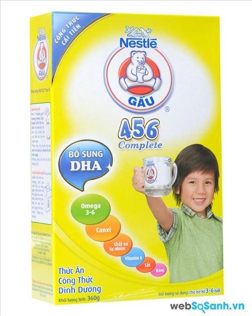Sữa bột Nestle Gấu 456 có giá từ 83.000 đồng