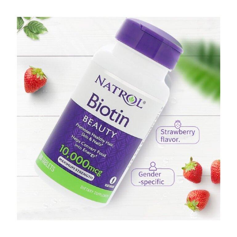 Thuốc mọc tóc cho nam Natrol Biotin