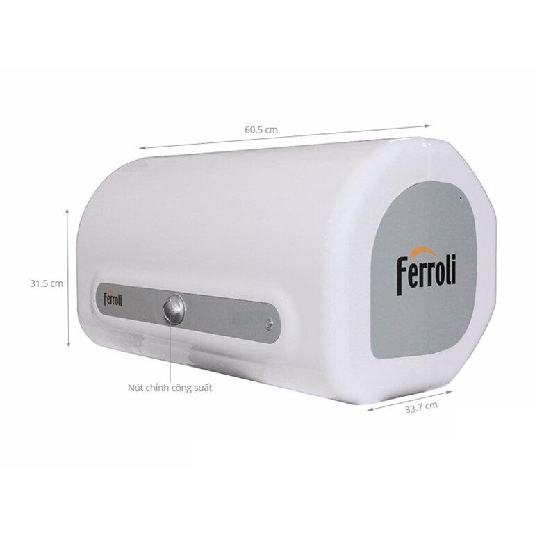 Bình nóng lạnh Ferroli qq me 30l thiết kế rất đẹp