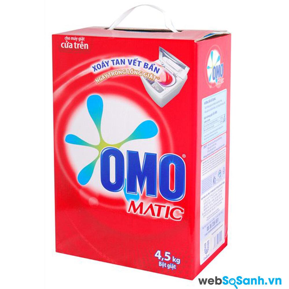 OMO Matic là loại bột giặt dành riêng cho máy giặt được nhiều người ưa thích sử dụng