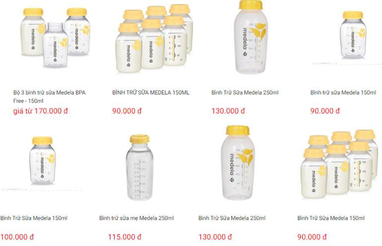Giá bình trữ sữa Medela