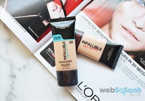 L'Oréal Infallible Pro-Glow Foundation là dòng kem nền giá rẻ khá lý tưởng cho làn da khô