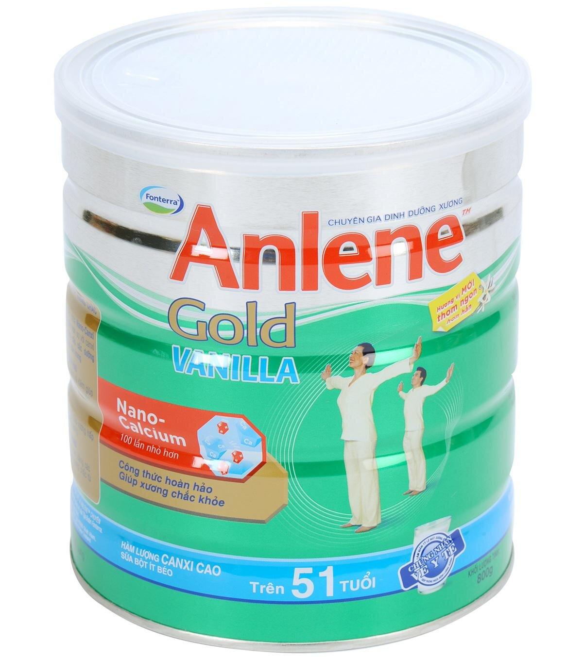 Sữa bột Anlene Vanilla Gold 800g