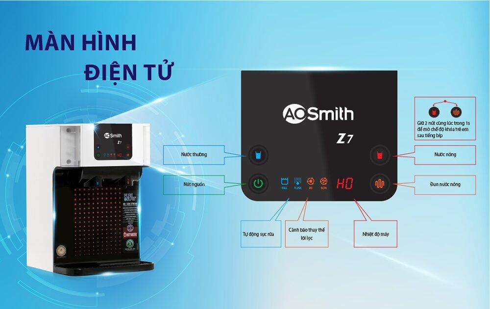 AO Smith Z7 là một mẫu máy cao cấp hiện đại nên có nhiều tính năng tân tiến