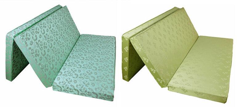 Đệm bông ép Sông Hông thiết kế gập 2 hoặc 3 gọn nhẹ dễ vệ sinh và cất giữ.