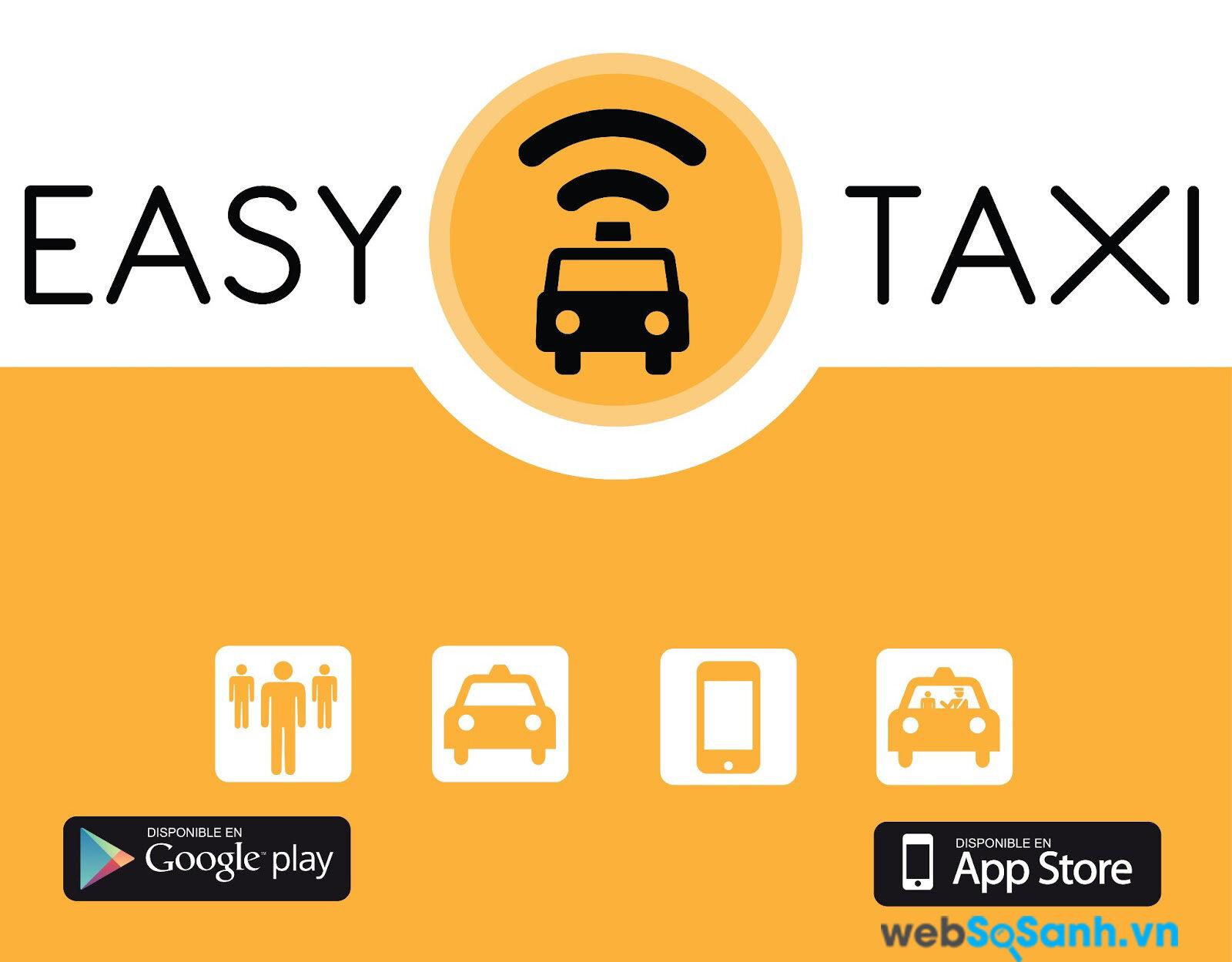 Easy Taxi có thể sử dụng được trên iOS, Android và Winphone