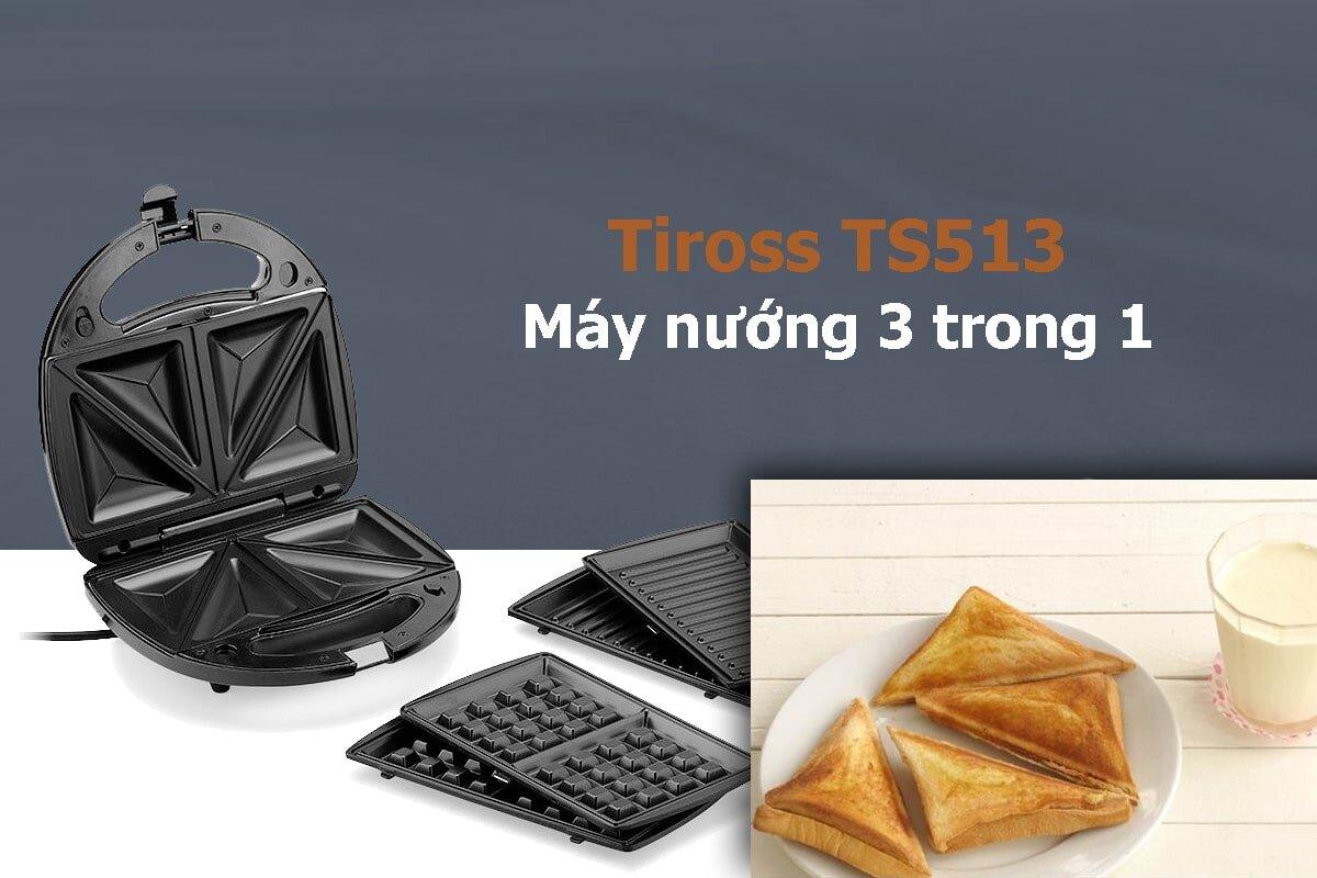 Máy làm bánh mì Tiross có đa dạng các chức năng và chế độ làm bánh