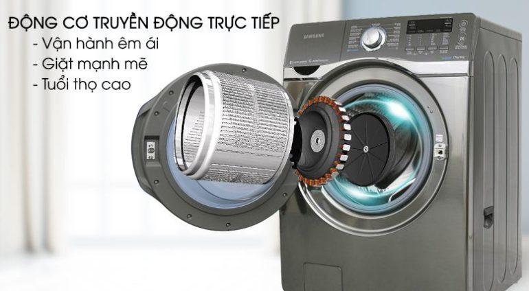 Động cơ máy giặt SamsungWD17J7825KP/SV là động cơ truyền động trực tiếp