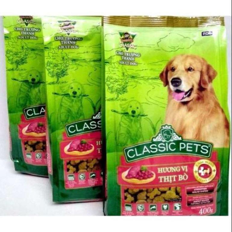 Thức ăn cho chó Classic Pet có đầy đủ các thành phần dinh dưỡng thiết yếu