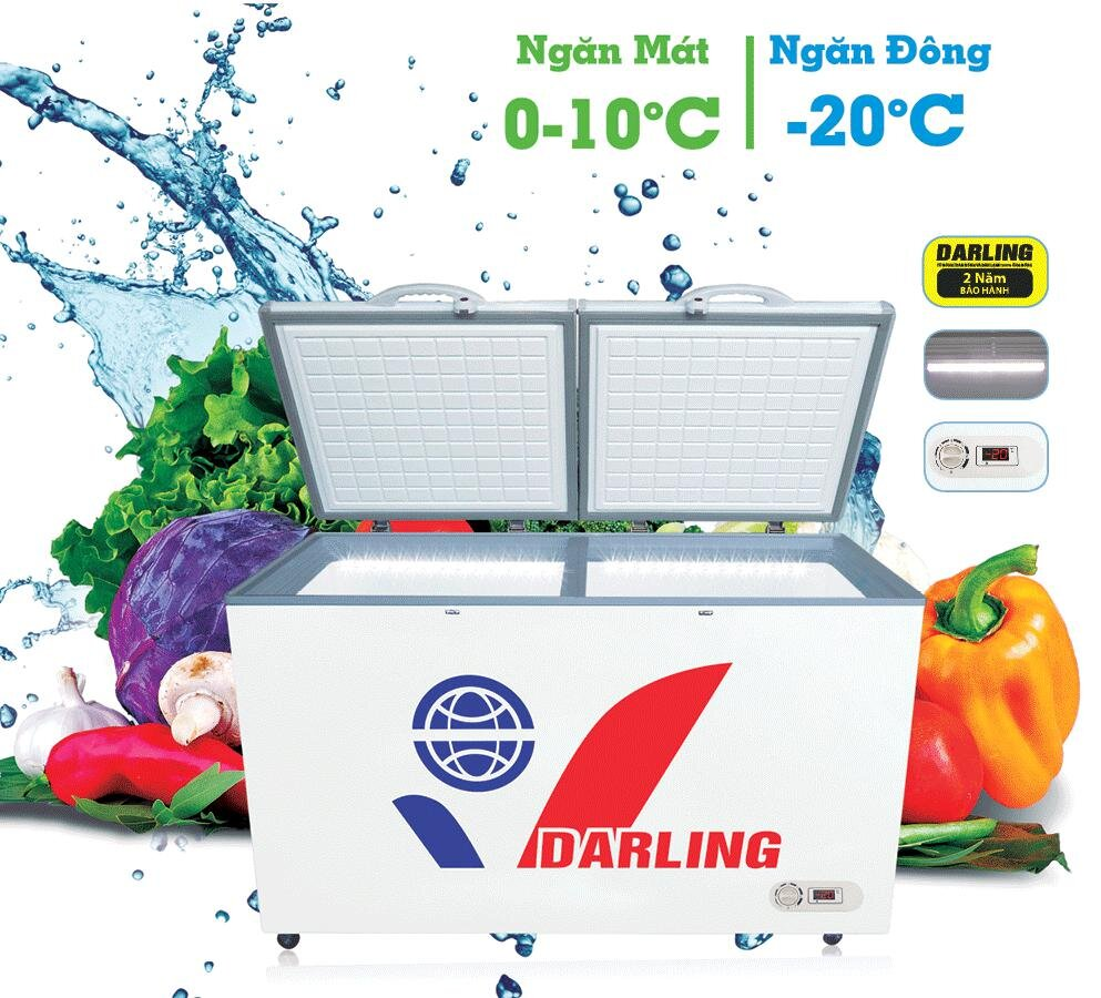 Tủ đông Darling được nhiều khách hàng lựa chọn phù hợp với nhu cầu sử dụng