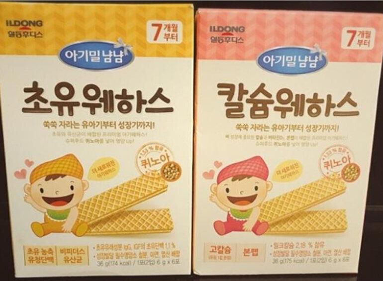 Bánh xốp ăn dặm Ildong Hàn Quốc thích hợp cho bé 7 tháng