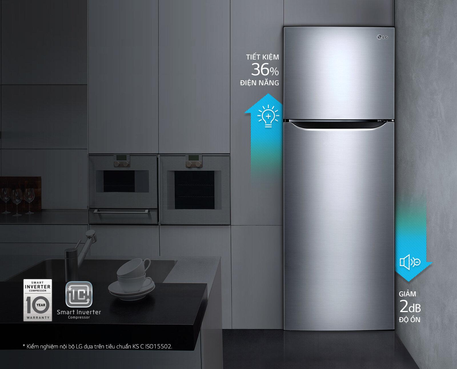 Tủ lạnh có thiết kế sang trọng hiện đại