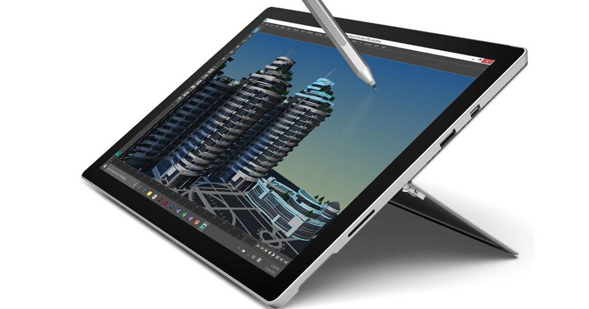 Khi sử dụng Surface Pro 4 có thời lượng pin khoảng 5 giờ giữa mỗi lần sạc