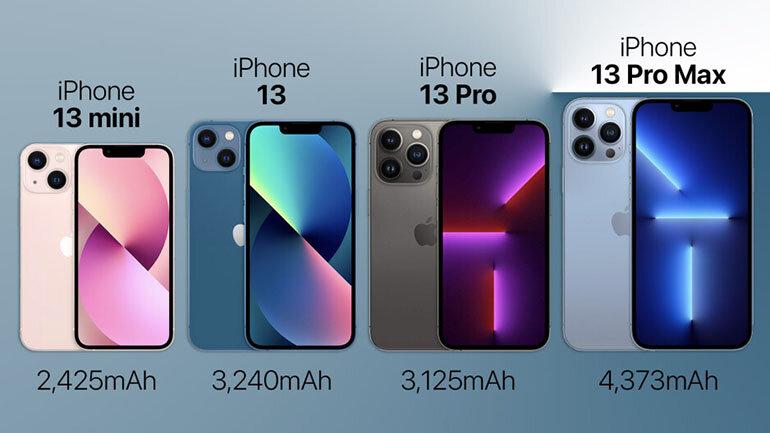 iphone 13 dung lượng pin