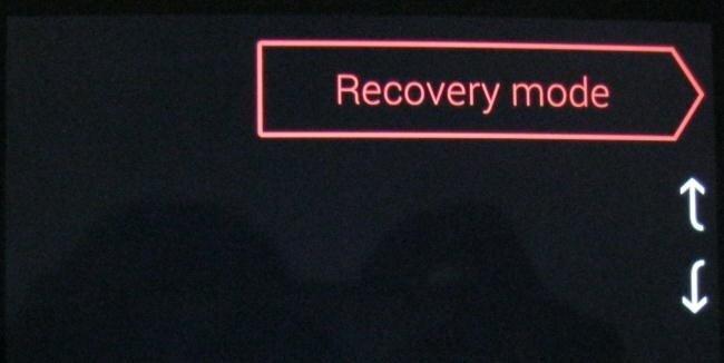 Khởi động với chế độ phục hồi