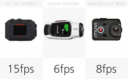 Action camera stills burst rate comparison (row 3)
