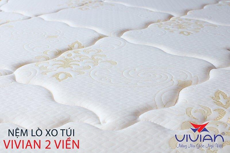 Nệm lò xo túi của Vivian thiết kế thông minh tạo nên sự thoải mái cùng êm ái nhất cho người nằm