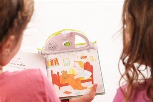 The Spark Reader reads to your child in your own voice