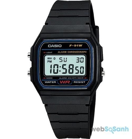 Đồng hồ điện tử Casio F-91 W