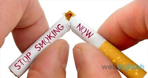 Bỏ thuốc lá để bảo vệ sức khỏe của bản than và người xung quanh