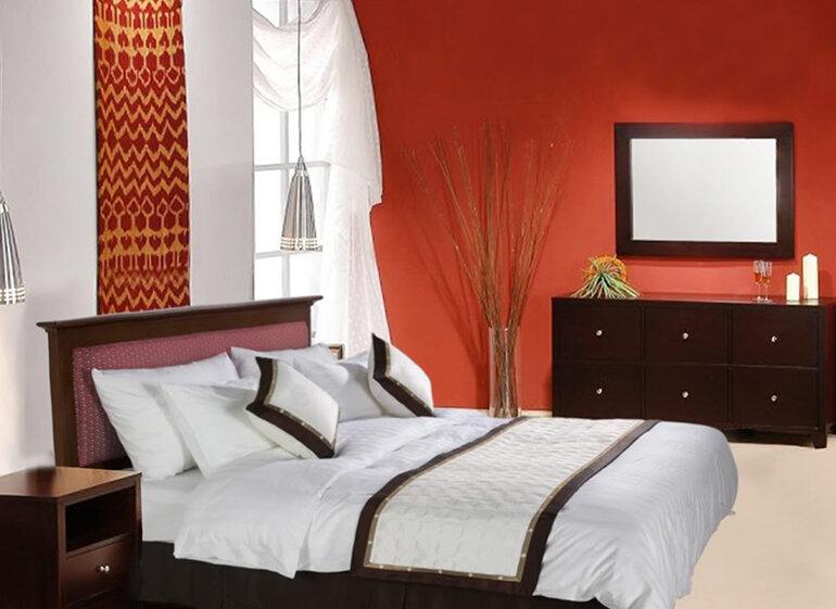 Lựa chọn màu sắc đơn giản đối với bộ chăn ga gối đệm dành cho nhà nghỉ