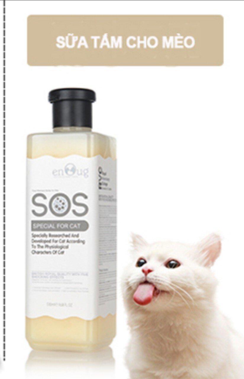 sữa tắm SOS cho mèo lông trắng