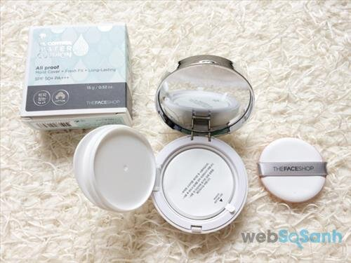 Phấn nước The Face Shop Miracle Finish Oil Control Water Cushion
