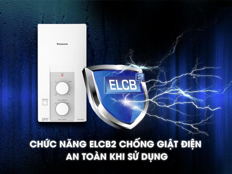 Máy nước nóng Panasonic được trang bị cảm biến chống rò điện ELCB