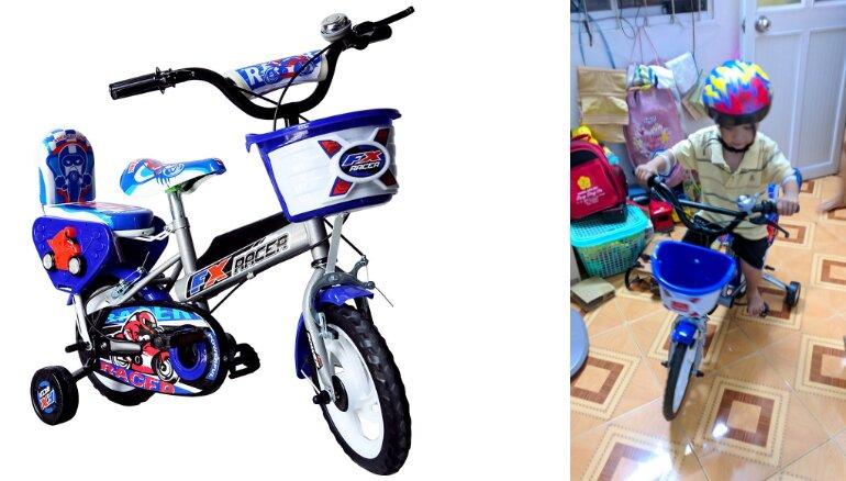 Xe đạp trẻ em 3 tuổi Nhựa Chợ Lớn14 inch K89 - M1616-X2B - Giá tham khảo: 547.000 vnđ