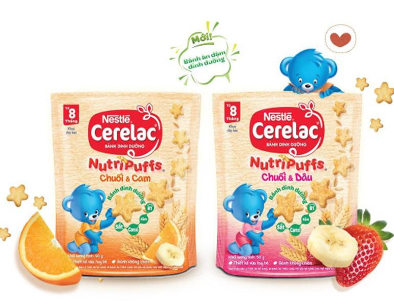 Hàm lượng canxi lớn trong bánh ăn dặm Nestle sẽ thúc đẩy bé tăng trưởng chiều cao tối đa