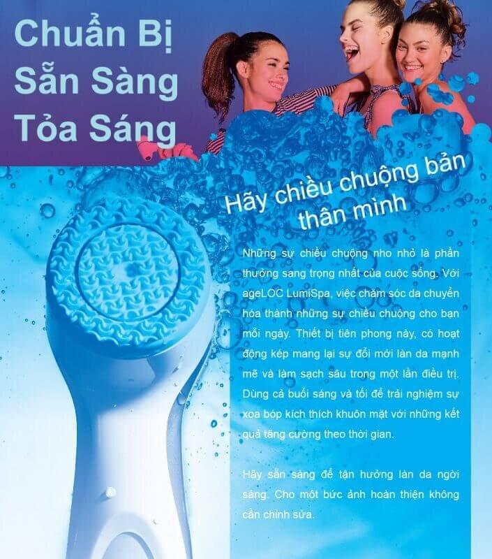 Quy trình hướng dẫn sử dụng máy massage mặt Lumispa Nuskin