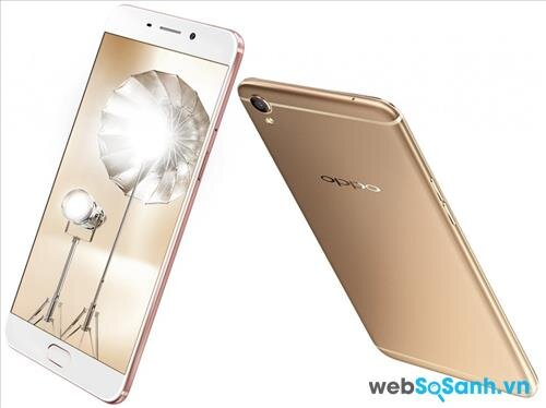 Smartphone OPPO F1 Plus sở hữu lớp vỏ nguyên khối được làm từ hợp kim nhôm cao cấp