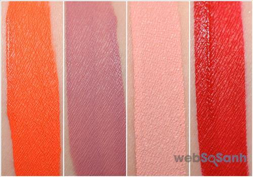 Hình ảnh swatches của son kem lì Too Faced Melted Matte Liquid Lipstick