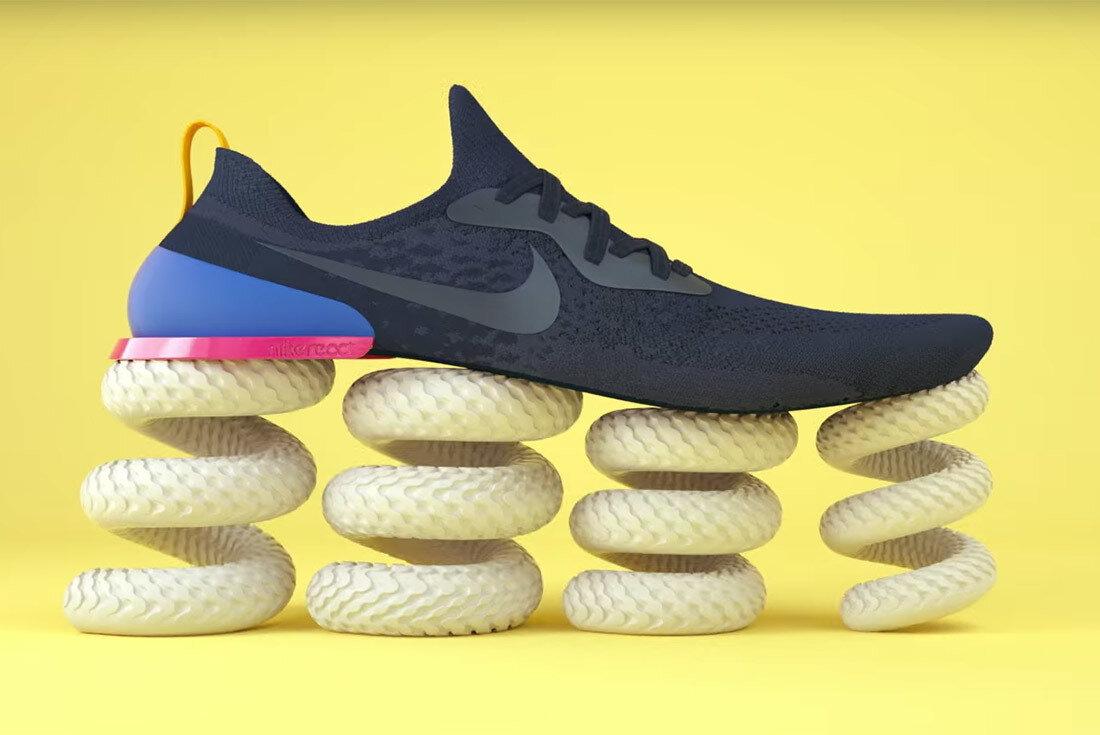 Giày tennis của Nike có đế bằng cao su nên bật nhảy tốt, tăng tốc nhanh và ổn định