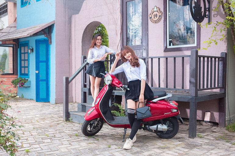 Xe điện Vespa Pansy Dibao động cơ khỏe, vận hành tốt số 1 Việt Nam