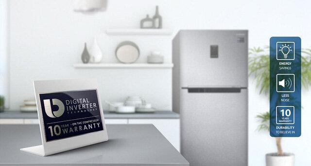 Tủ lạnh Inverter Samsung có bộ nén bảo hành 10 năm