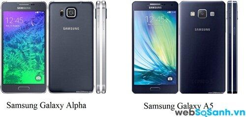 Độ lớn màn hình hai điện thoại tương đương nhau