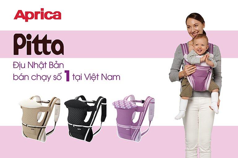 Đai địu em bé Aprica Pitta