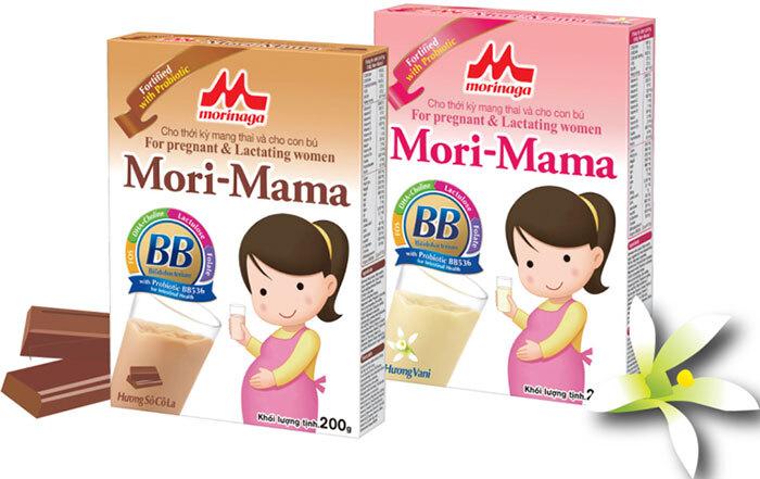 sữa bầu mori - mama vị socola và vani