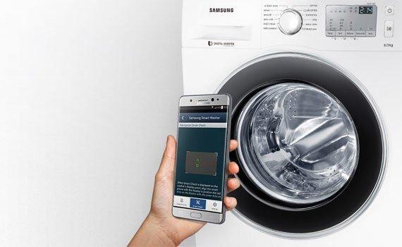 công nghệ điều khiển máy giặt từ xa Samsung