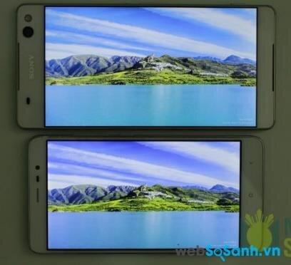 So sánh màn hình hiển thị của Xperia C5 Ultra và Redmi Note 3