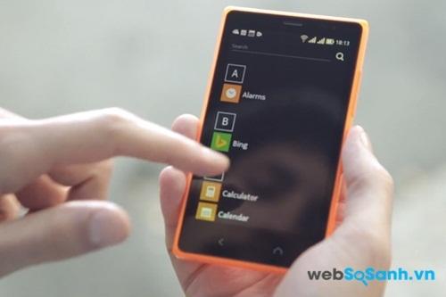 Nokia X2 chạy hệ điều hành Android nhưng có giao diện khá giống Windows phone