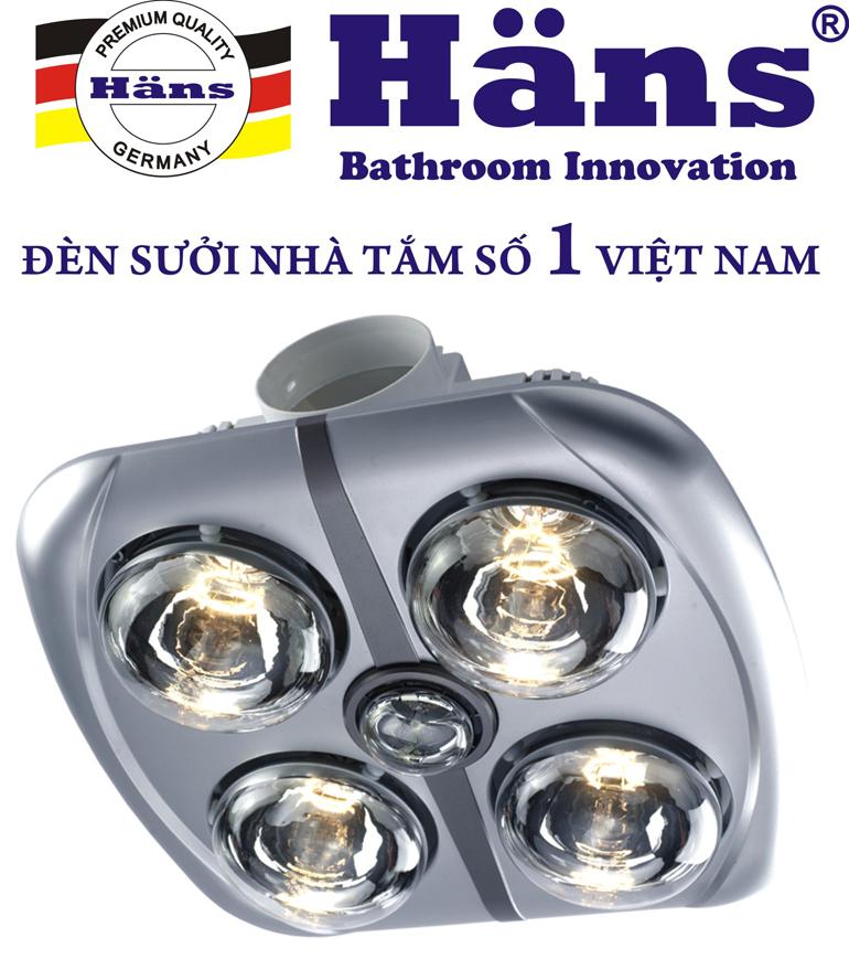 Đèn sưởi nhà tắm 4 bóng âm trần có nhiều ưu điểm nổi trội.