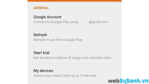 Để kết nối với Google Play, bạn chỉ cần nhập thông tin chi tiết tài khoản Google của bạn trong cài đặt ứng dụng
