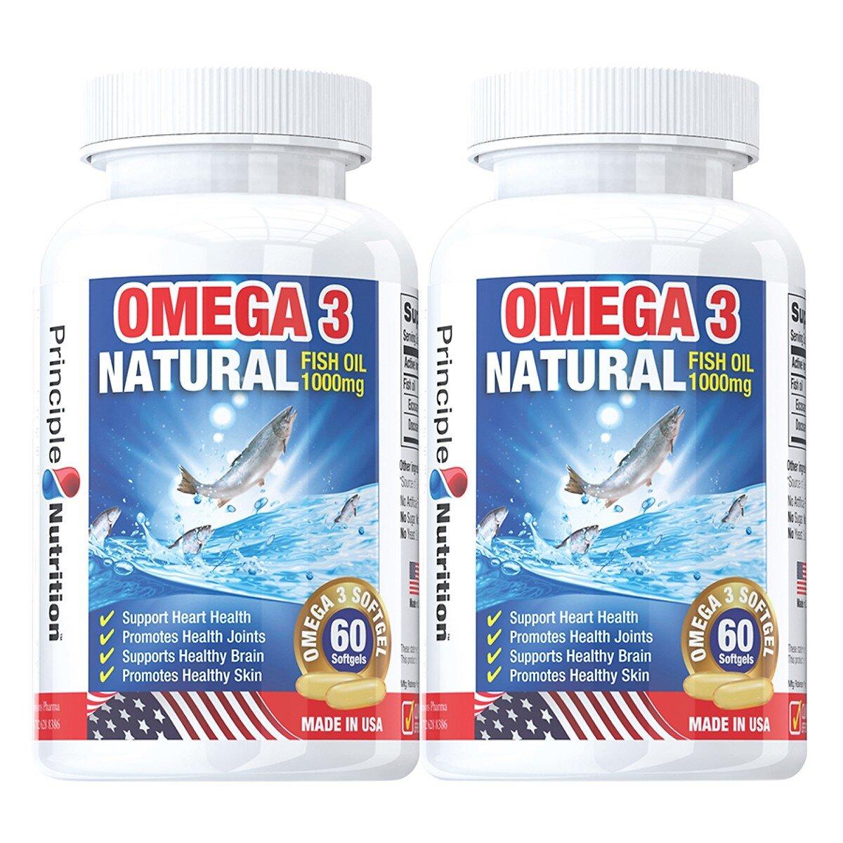 Viên uống dầu cá Principle Nutrition là loại thực phẩm chức năng nên sử dụng để hỗ trợ sức khỏe
